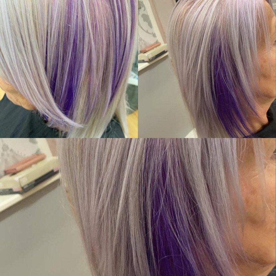 colouring purple hair